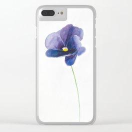 Indigo Smile Clear iPhone Case