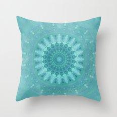 Mandala lightblue 1 Throw Pillow