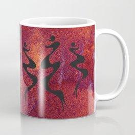 Dancers on Rust Coffee Mug