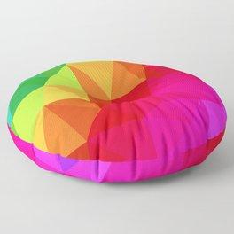Rainbow Low Poly Floor Pillow