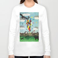 chile Long Sleeve T-shirts featuring Sur de Chile by i am nito