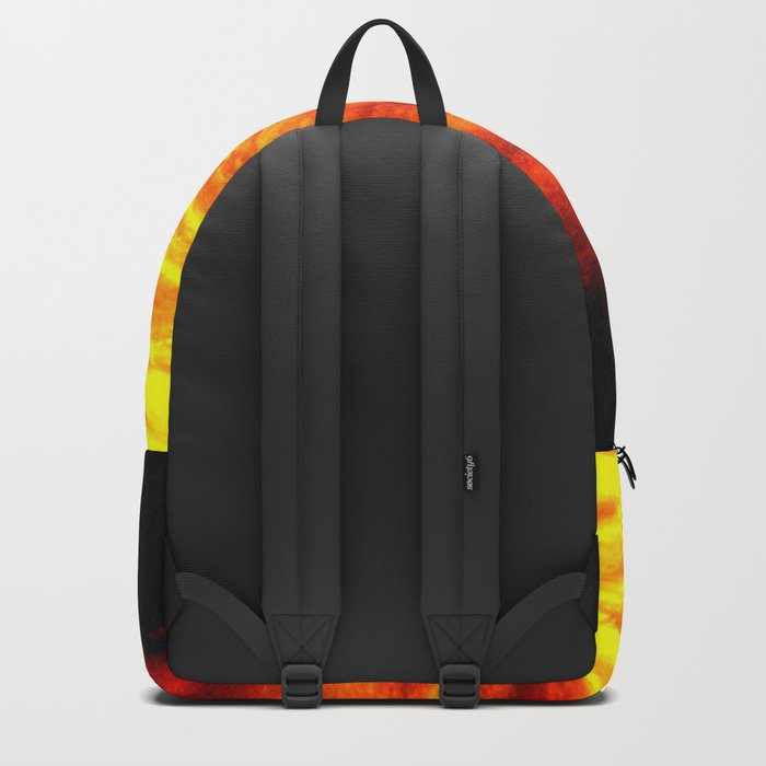 Black Yellow Red Sunset Backpack