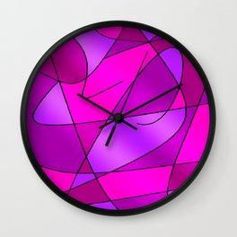 ABSTRACT CURVES #2 (Purples, Violets, Fuchsias & Magentas) Wall Clock