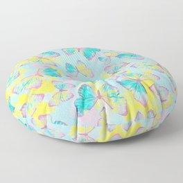 BUTTERFLIES YELLOW Floor Pillow