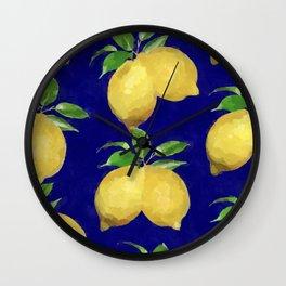 Sicilian Lemon Wall Clock