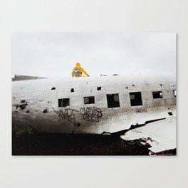 Icelandic Plane Wreck (Space Walk Series no.3) Canvas Print