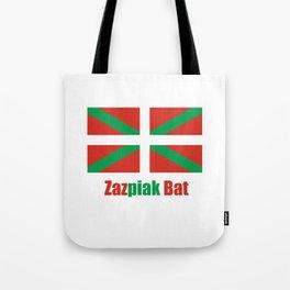 Flag of Euskal Herria 6 -Basque,Pays basque,Vasconia,pais vasco,Bayonne,Dax,Navarre,Bilbao,Pelote,sp Tote Bag