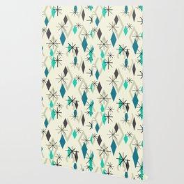 Mid Century Modern Diamonds Wallpaper