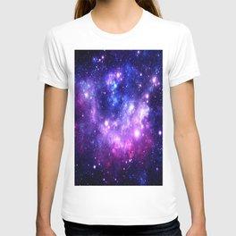 Purple Blue Galaxy Nebula T-shirt