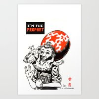 tintin Art Prints featuring I'm the prophet / Tintin and Snowy by Stéphane Bouillet