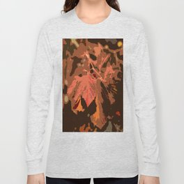 Abstract Fall Leaves Long Sleeve T-shirt