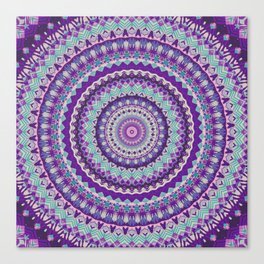 Iris Passion Mandala Canvas Print