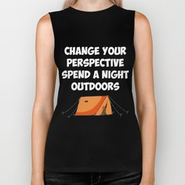 Spend a Night Outdoors Camping Hiking Biker Tank