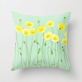 Yellow Wildflowers II Throw Pillow