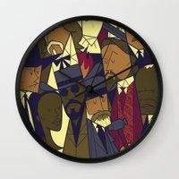 django Wall Clocks featuring Django Unchained by Ale Giorgini