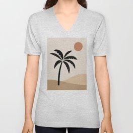 Desert Sun Palm Unisex V-Neck