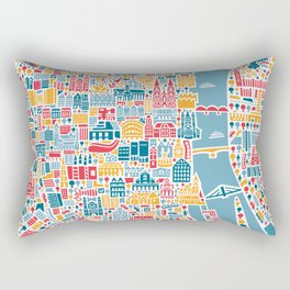Cologne City Map Poster Rectangular Pillow