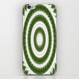 Green White Kaleidoscope Art 8 iPhone Skin