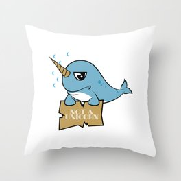 """Funny and hilarious """"Not A Unicorn"""" tee design. Makes an awesome and perfect gift to your friends!  Throw Pillow"""