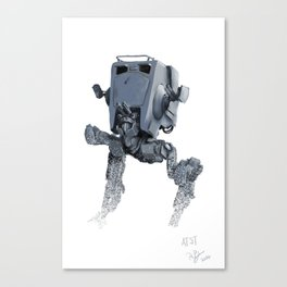 AT-ST in the snow Canvas Print