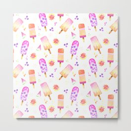 Popsicles | Ice Lolly | Ice Cream | Summer | Fruit Metal Print