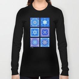 Talavera Mexican Tile – Blue Palette Long Sleeve T-shirt