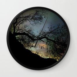 Night Fall by The Tree Wall Clock