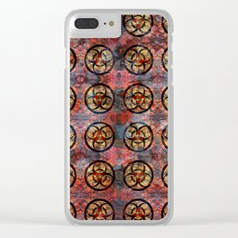 Biohazard Pattern Clear iPhone Case