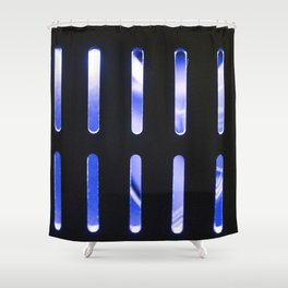 Blue Radiator Shower Curtain