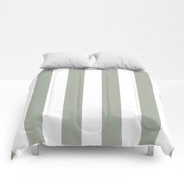 Desert Sage Grey Green Circus Tent Stripe Comforters