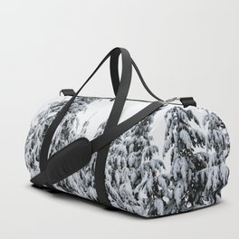 Winter Trees IX - Snow Capped Forest Adventure Nature Photography Duffle Bag