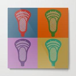 Lacrosse 4Monkeys Metal Print
