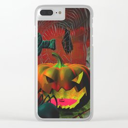 Something Spooky This Way Comes Clear iPhone Case