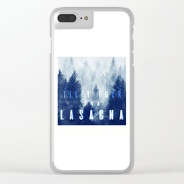 titty f*ck tha lasagna Clear iPhone Case