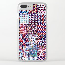 Pigmented Pattern Parade Clear iPhone Case