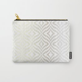 Silver Bargello Geometric Carry-All Pouch