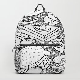Junk and Health Food Frenzy Backpack