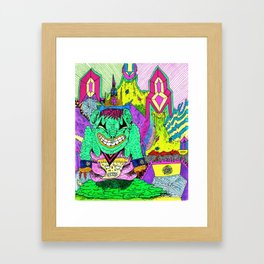 Sludge City Framed Art Print