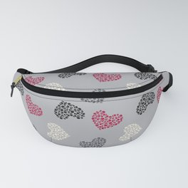 Hearts made of skulls Fanny Pack