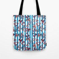 bikini Tote Bags featuring bikini by lindseyclare