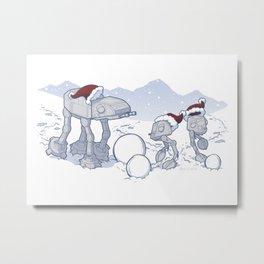 Happy Hoth-idays! Metal Print