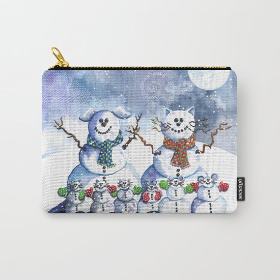 It's Snowing Cats and Dogs (and Mice too) Carry-All Pouch