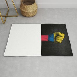 Colombian Flag on a Raised Clenched Fist Rug