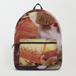 Ribbons, Bells And Cavalier King Charles Spaniel Backpack