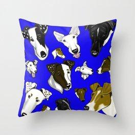 Smooth Fox Terrier Cobalt Throw Pillow