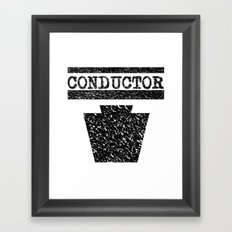 Conductor - Keystone Logo Framed Art Print