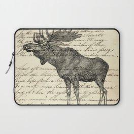 western country primitive winter mountain animal wildlife moose Laptop Sleeve