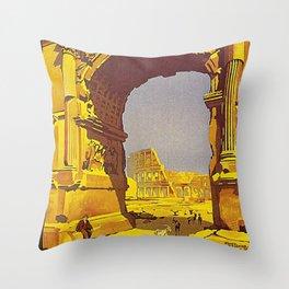 Vintage poster - Rome Throw Pillow
