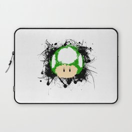 Abstract Paint Splatter 1up Mushroom Laptop Sleeve