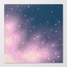 Lilac Nebula (8bit) Canvas Print